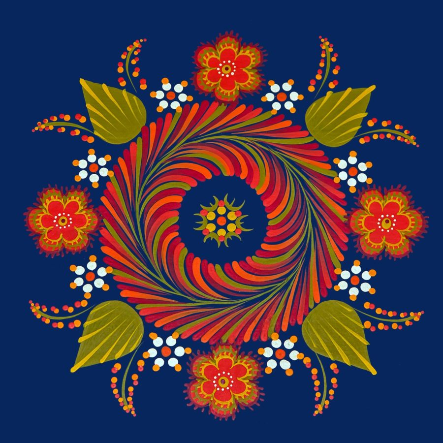 illustration, flower, design, art, abstract