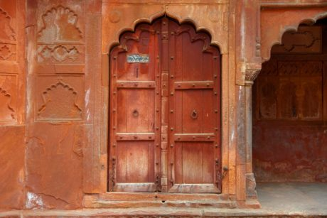 house, ancient, arch, Asia, architecture, front door, wood, entrance, old