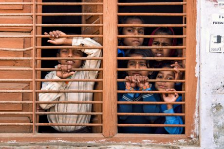 children, window, grid, house, architecture