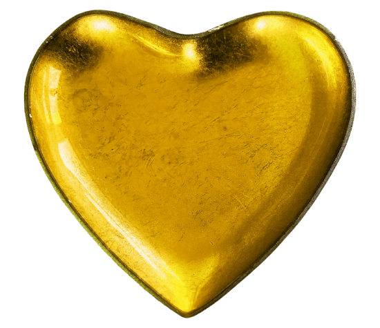 jaune, forme, coeur, amour, Romance