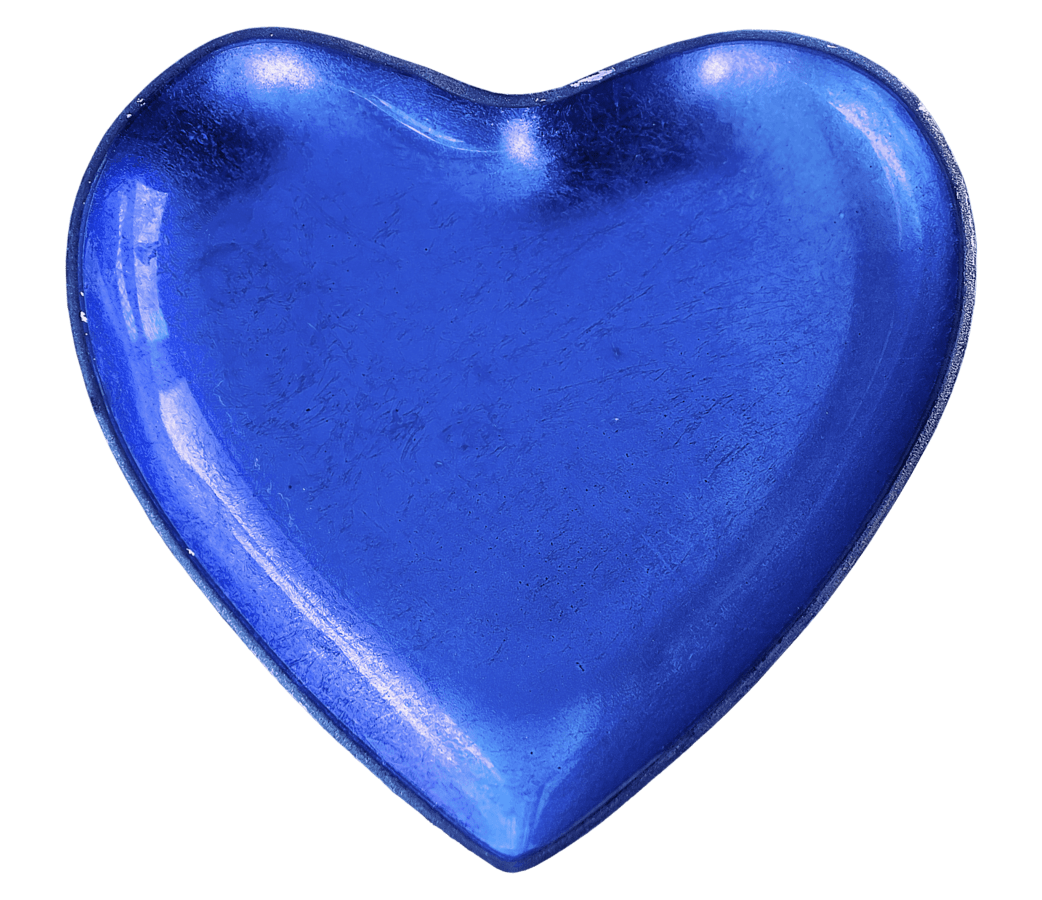 blå, form, hjerte, kjærlighet, romantikk