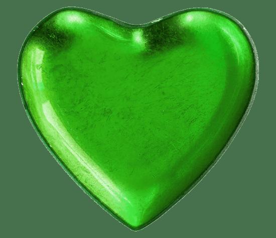 vert, forme, coeur, amour, Romance