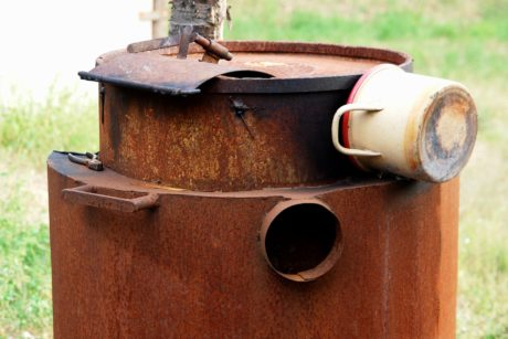 metal, furnace, pot, sheet metal, steel, rust, old, outdoor, object
