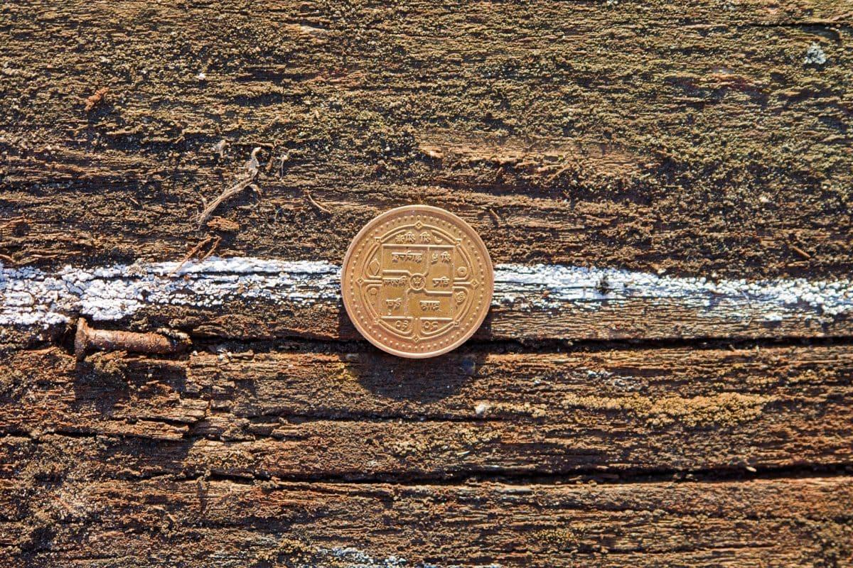 money, metal, wood, outdoor, texture