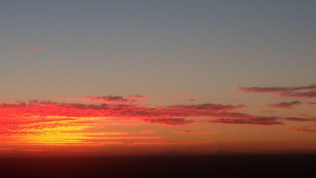 gryning, skymning, sol, solnedgång, himmel, atmosfär, uppgång