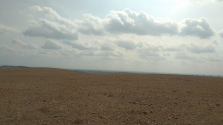 desert, blue sky, landscape, steppe, land, sand, sunshine, outdoor, soil