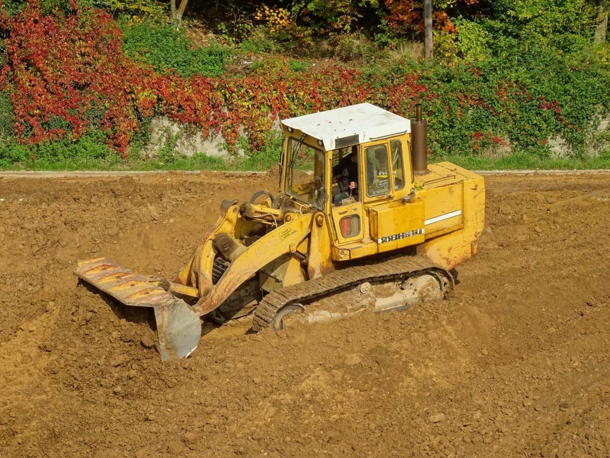 vozidlo, půda, buldozer, stroje, stroje, zařízení, bahno