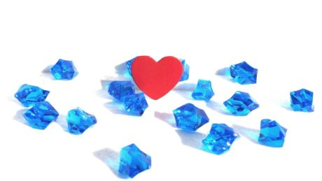 crystal, shape, jewelry, gem, precious, love, red heart, gift, decoration