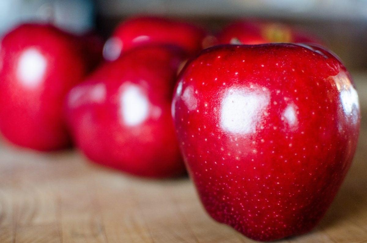 finom, étel, piros alma, gyümölcs, diéta, vitamin, piros, édes