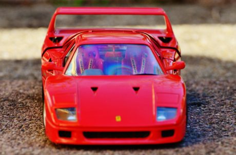 toy, object car, vehicle, plastic, automobile, red auto