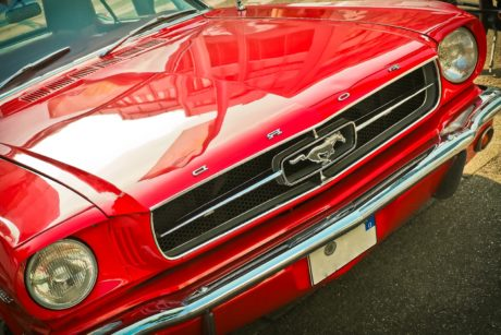 chrome, fast, vehicle, red car, classic, convertible, drive, automotive