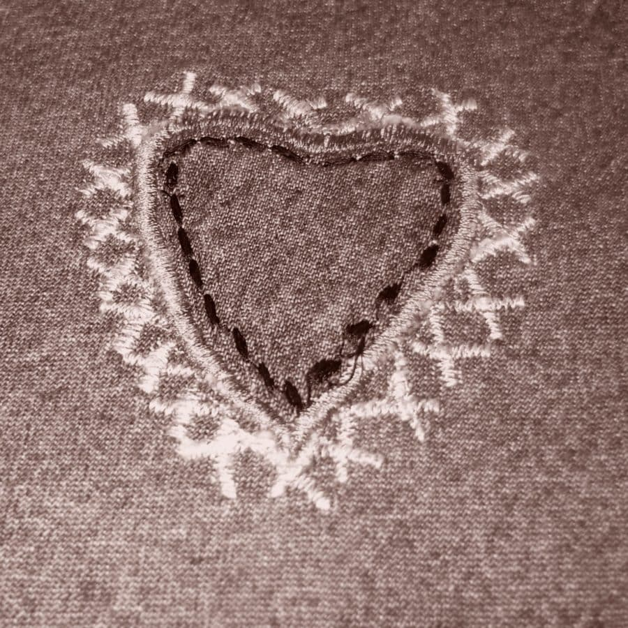 сърце, текстура, дизайн, ретро, текстил, материал