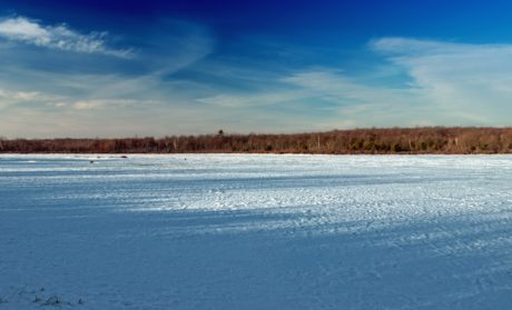 ice, snow, winter, cold, blue sky, lake, water, landscape, nature