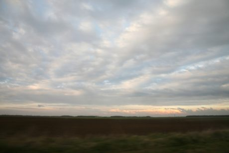sunset, landscape, sky, nature, steppe, land, field, grass,cloud