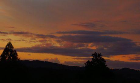 aube, ciel sombre, crépuscule, coucher de soleil, Sun, atmosphère, paysage, lever