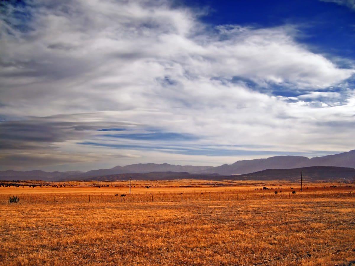sunset, nature, landscape, sky, steppe, soil, land, field, outdoor
