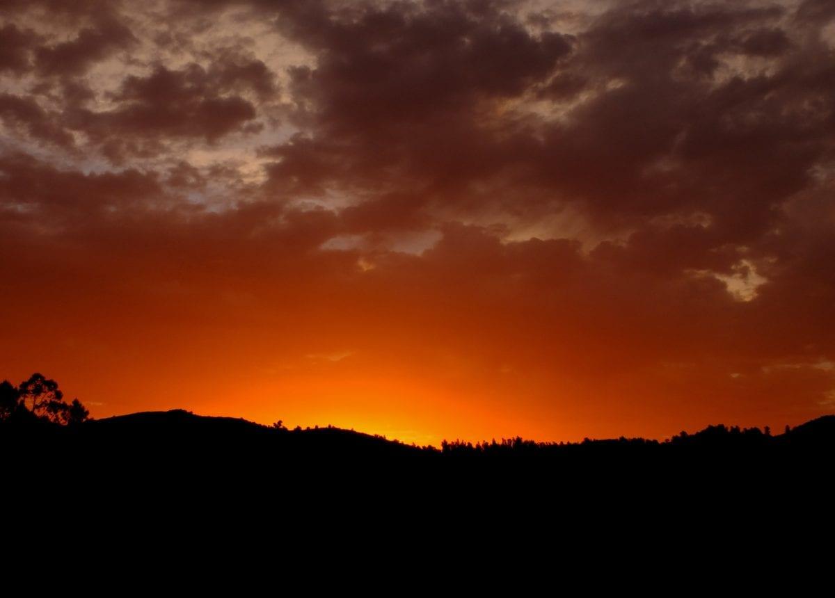 sun, dawn, sunset, red sky, atmosphere, landscape, sunrise, mountain