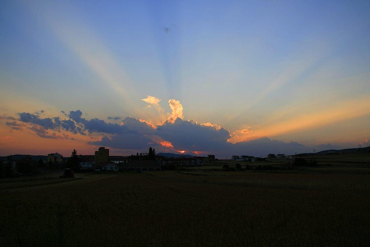 sun, landscape, sunset, sky, dawn, atmosphere, cloud, outdoor