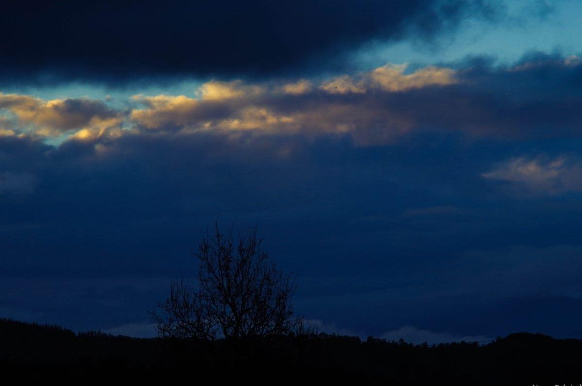 stín, modrá obloha, soumrak, krajina, úsvit, příroda, západ slunce, atmosféra
