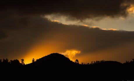 lanskap, langit, fajar, matahari, senja, backlit, bayangan, bayangan, matahari terbenam