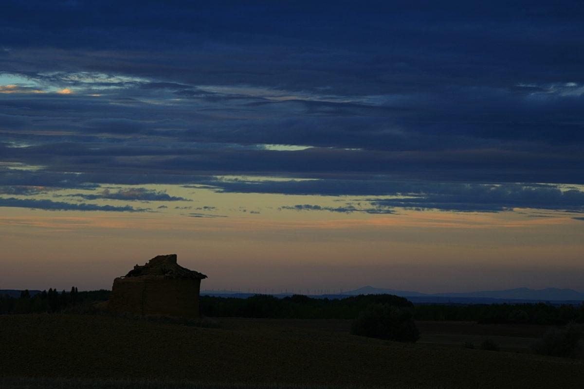 dawn, landscape, dusk, sunset, sky, sun, steppe, shadow, outdoor