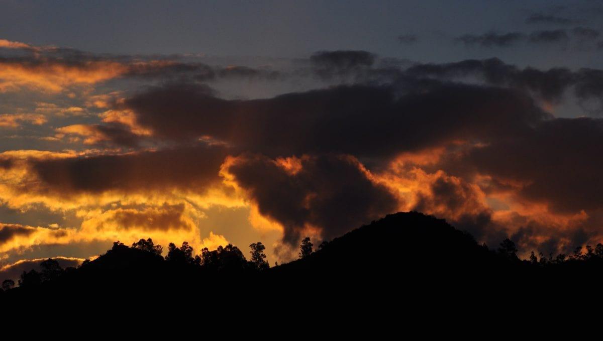 sunset, dark sky, dusk, dawn, mountain, sun, cloud, atmosphere