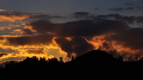 sunset, dark sky, dusk, dawn, mountain, sun, cloud, atmosphere