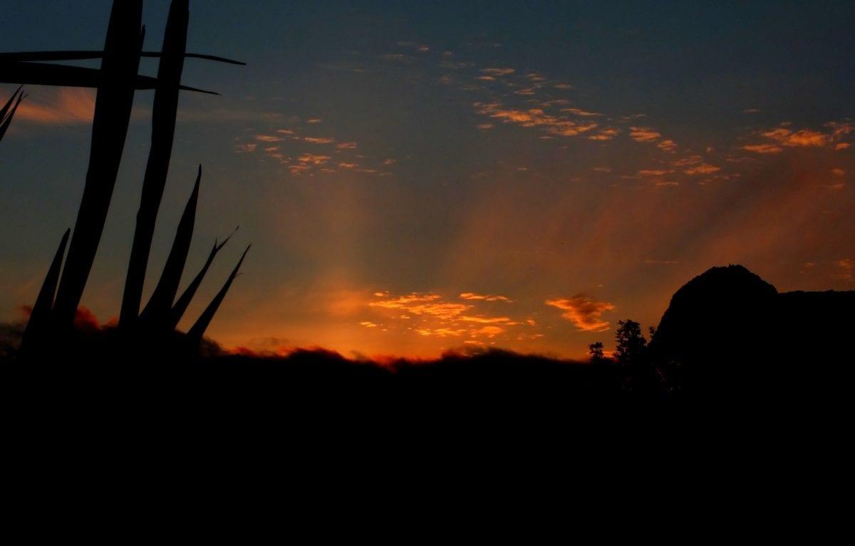 sky, sun, dusk, backlit, night, landscape, dawn, silhouette