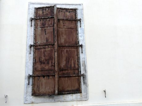 old window, cast iron, wood, retro, door, architecture, wall, brick,