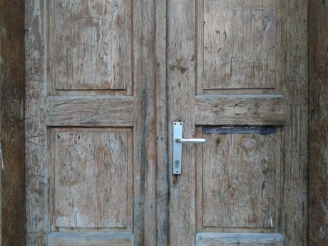 front door, oak, wooden, wood, entrance, old, brown