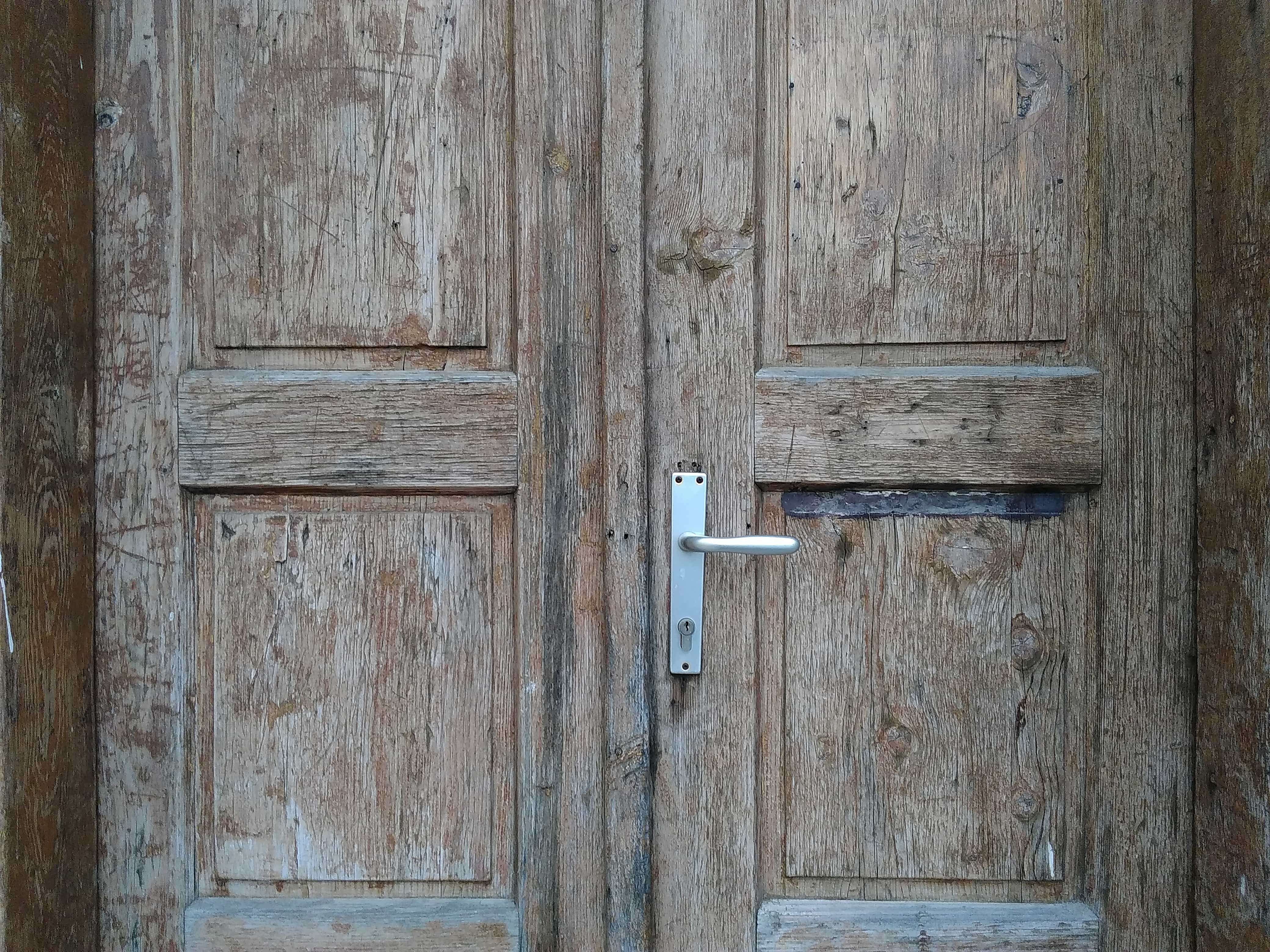 Free Picture Front Door Oak Wooden Wood Entrance Old