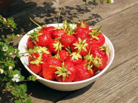 strawberry, bowl, food, nutrition, diet, delicious, fruit, berry, organic, flower