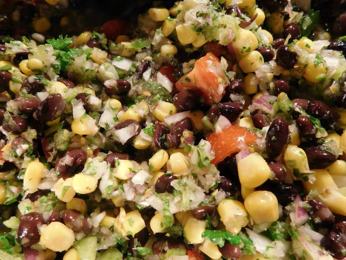 dieta, jídlo, jídlo, zelenina, fazole, salát, jídlo, luštěniny, večeře