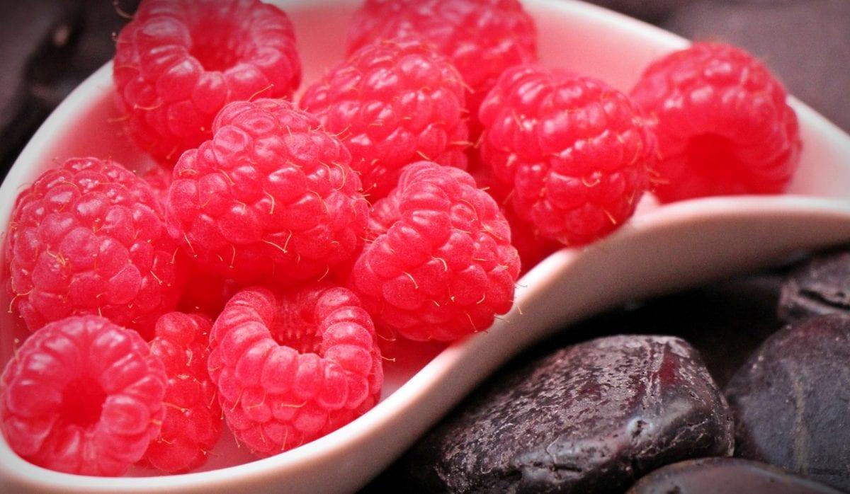 voće, ukusno, slatko, malina, hrana, bobica, desert