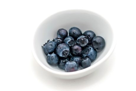 food, berry, white bowl, fruit, blueberry, sweet, diet, dessert, delicious