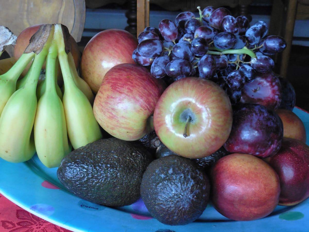 nourriture, pomme, fruit, banane, alimentation, nutrition, organique, nature morte