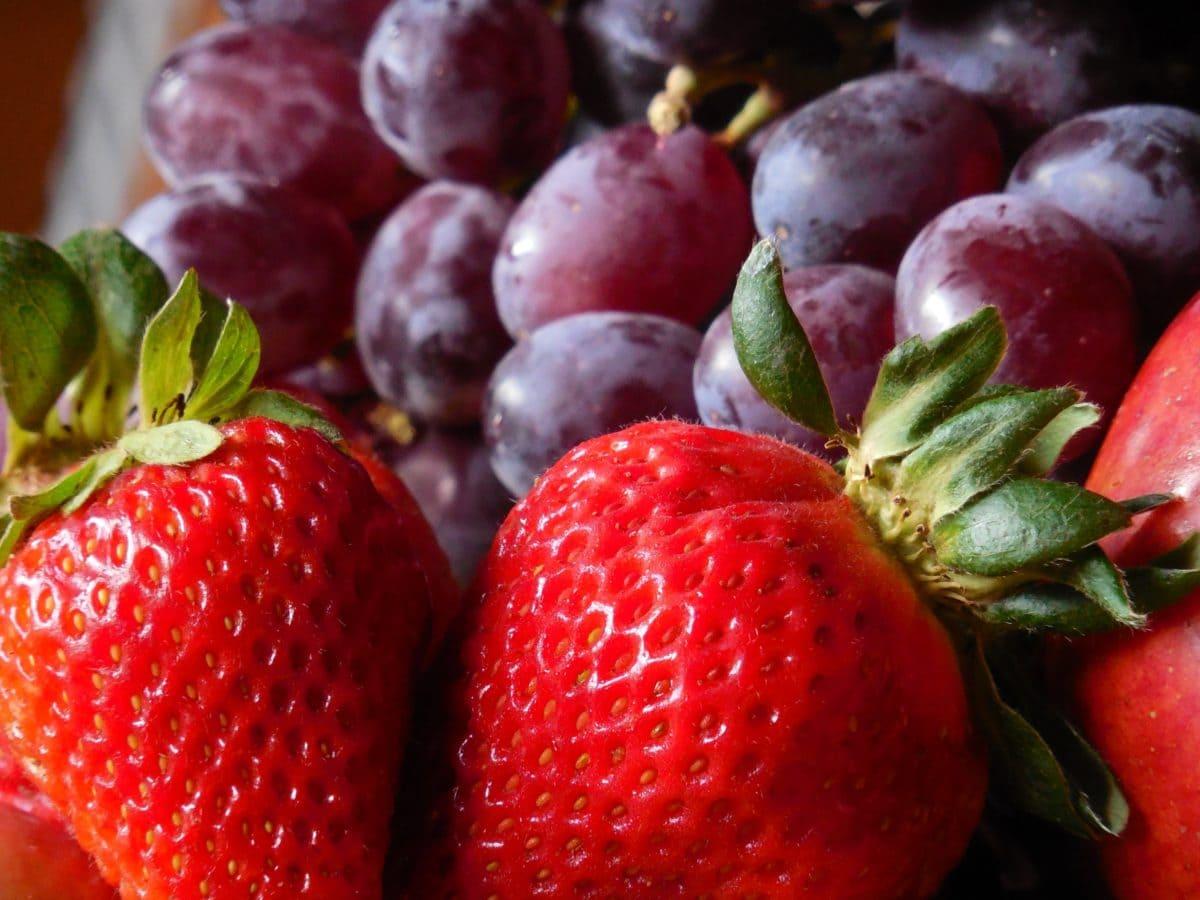 ngon, đỏ dâu, Berry, thực phẩm, lá, trái cây, ngọt, tráng miệng