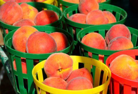 hrana, breskva, voće, slatko, zdjela, voće, organska, košara