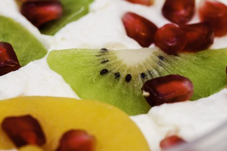 sweet, kiwi fruit, food, delicious, meal, dessert, diet, vanilla cream
