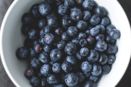 blackberry, white bowl, sweet, berry, food, fruit, blueberry, diet, organic