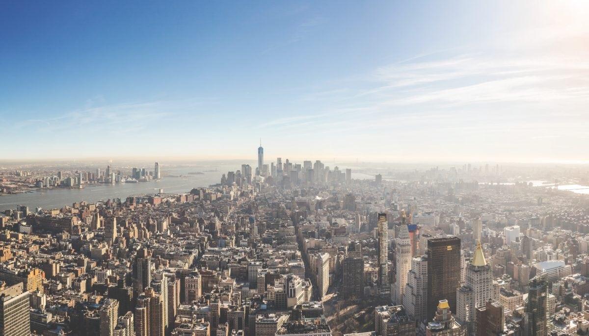 Centre-ville, soleil, paysage urbain, ville, architecture, Urban, tour, ciel bleu
