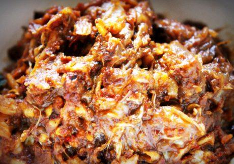 danie, jedzenie, sos, mięso, mączka, wieprzowina, obiad, obiad