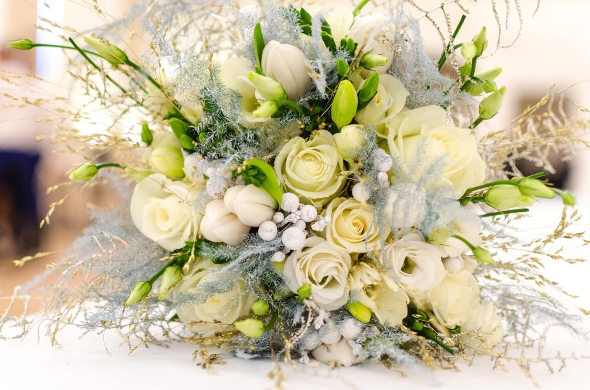 bouquet, flower, bride, white rose, arrangement, decoration