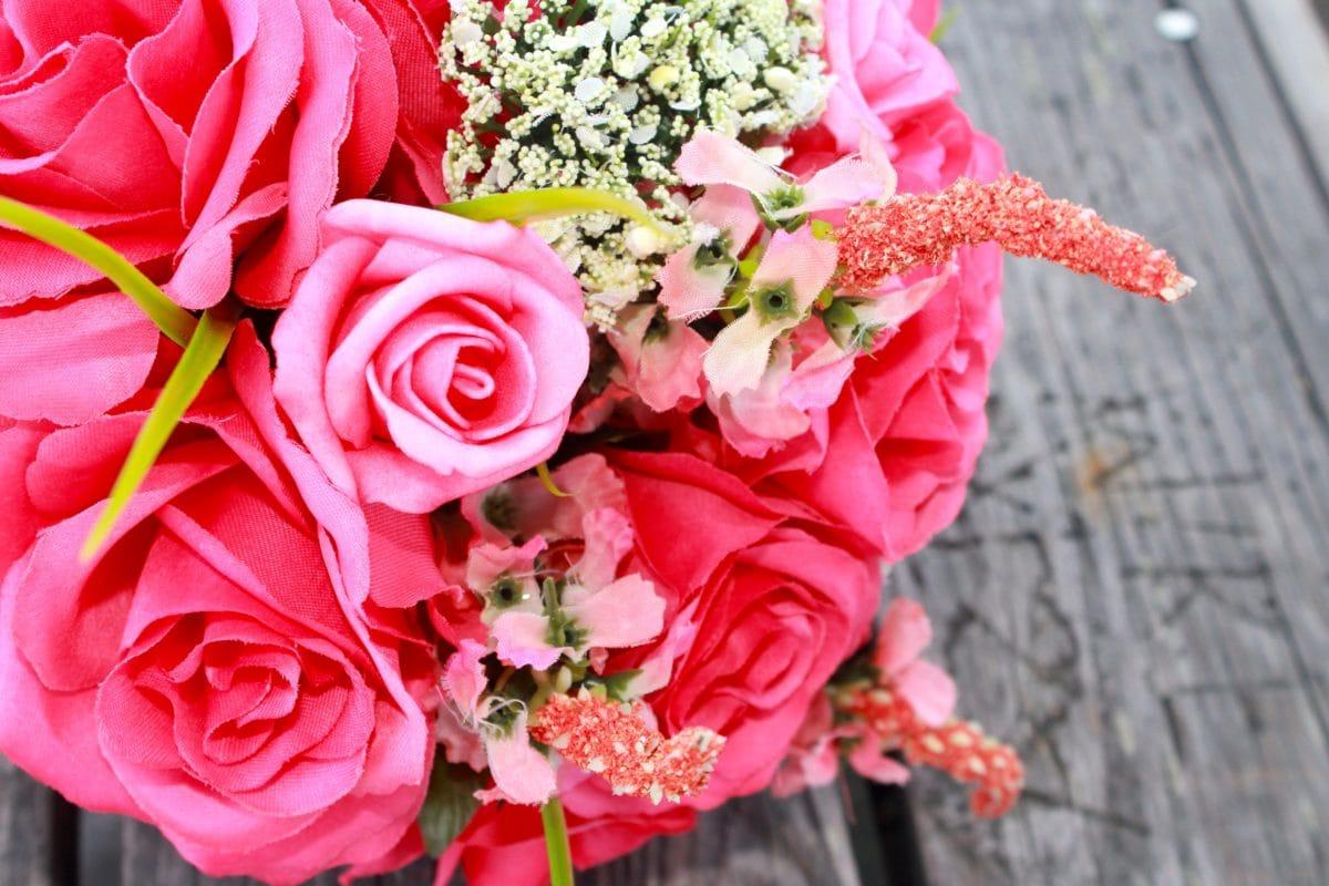Bouquet, bunga mawar merah, bunga, pengaturan, dekorasi