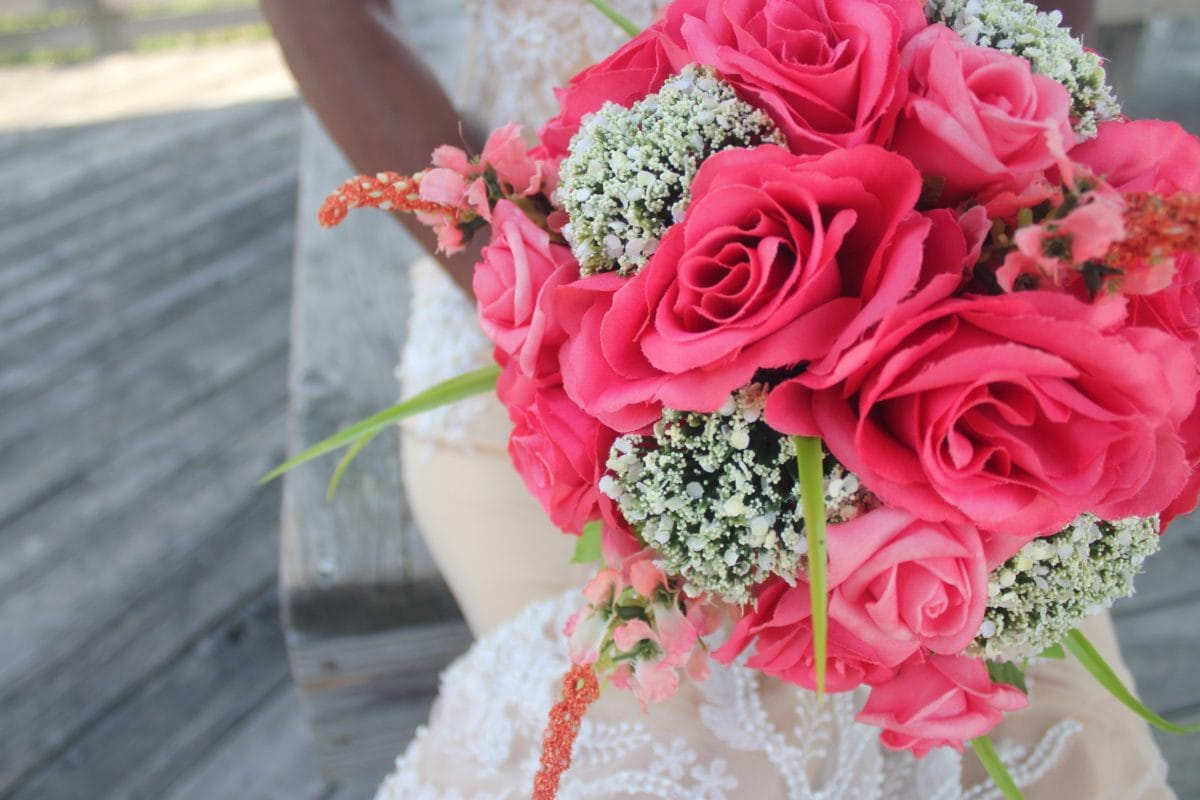 bouquet, flower, red rose, bride, arrangement, bride, rose