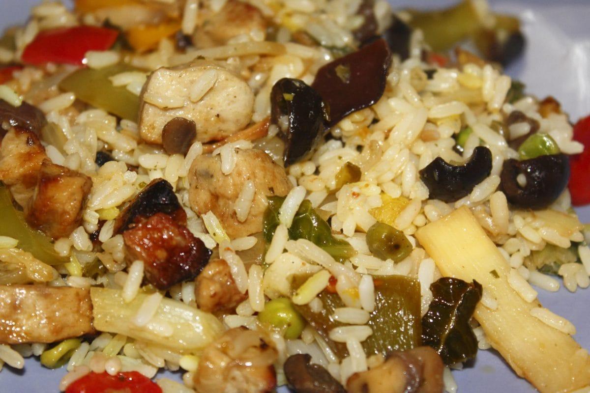 repas, déjeuner, légumes, riz brun, dîner, nourriture, plat, salade, délicieux