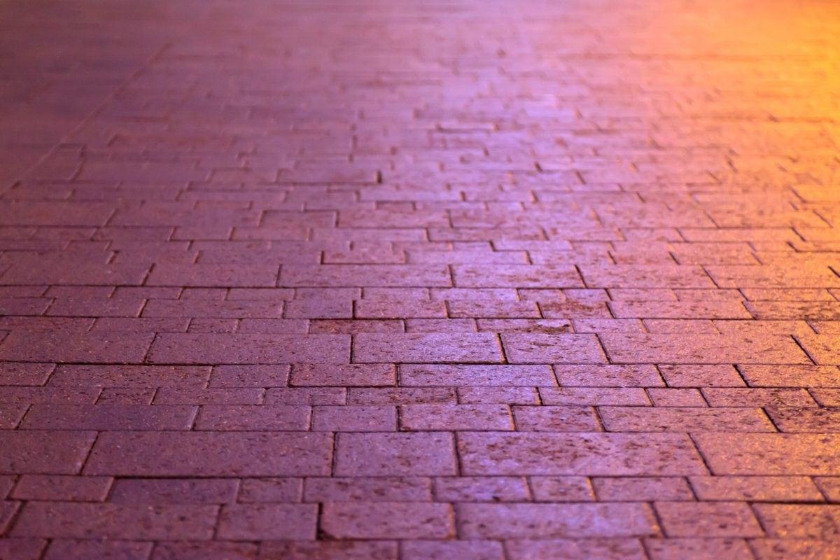 gamle, abstrakte, tekstur, mønster, belysning, mur, lys, retro, mursten, cement