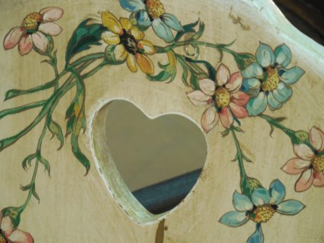 decoupage, furniture, heart, illustration, flower, retro, art, design