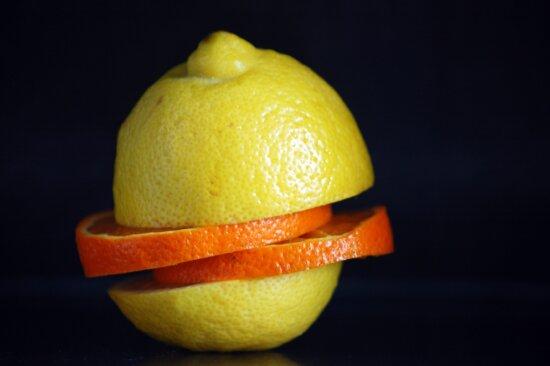 photo studio, yellow lemon, citrus, fruit, food, darkn, diet, vitamin