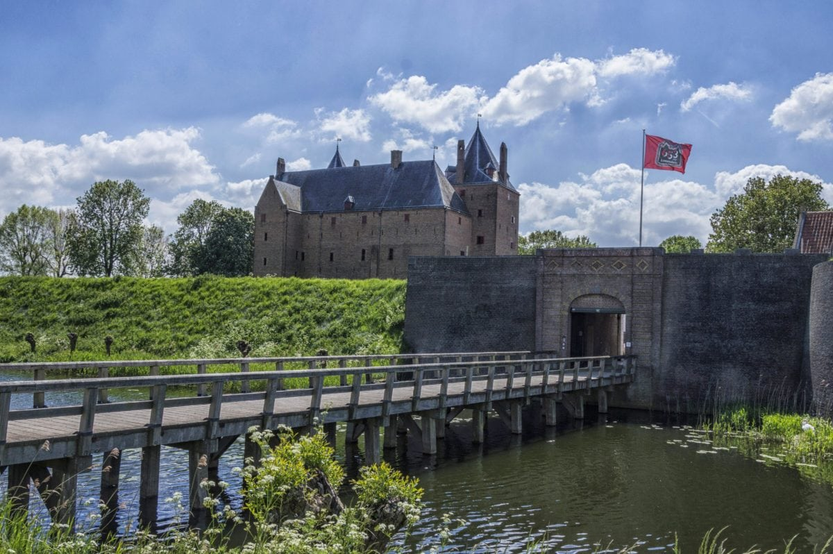 bridge, water, architecture, river, castle, Gothic, fortification